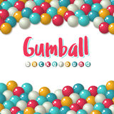 Gumball candies holiday background Stock Photos