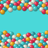 Gumball candies holiday background Royalty Free Stock Photos