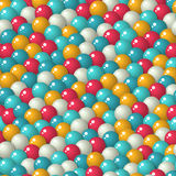 Gumball candies seamless pattern. Colorful pattern with a lot of gumballs, mixed colors. Seamless vector background. Bright game background with glossy balls Stock Image