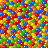 Gumball candies seamless pattern. Colorful pattern with a lot of gumballs, mixed colors. Seamless vector background. Bright game background with glossy balls vector illustration