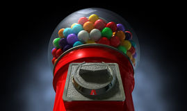 Gumball Dispensing Machine Dark Stock Photos