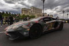 Gumball 3000 Dublin to Bucharest Charity Grid Rally - Bucharest Royalty Free Stock Image