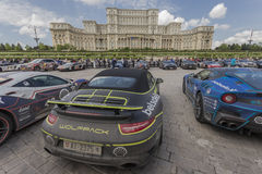 Gumball 3000 Dublin to Bucharest Charity Grid Rally - Bucharest Stock Images