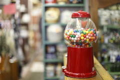 Gumball machine. On the counter royalty free stock photography