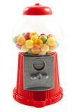 Gumball machine. Colorful gumballs in gumball machine isolated over white Royalty Free Stock Photo