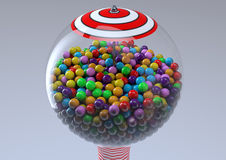 Gumball machine. Retro vintage gumball machine a lot of sweet sugar Stock Images