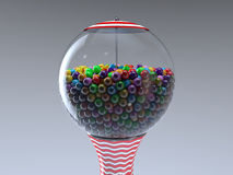 Gumball machine. Retro vintage gumball machine a lot of sweet sugar Stock Photo