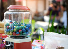 Gumball machine in the market. Gumball machine in the local market thailand royalty free stock photography