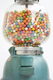 Gumball machine from an old store in 1950. Filled royalty free stock images