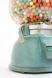 Gumball machine from an old store in 1950. Filled stock photography