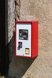 Gumball machine at rural countryside of south germany. On a nice sunny day in april stock images