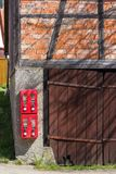 Gumball machine at rural countryside of south germany. On a nice sunny day in april royalty free stock photo