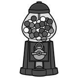 Gumball maskinillustration stock illustrationer