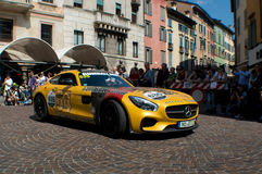 Gumball Mercedes AMG GT chez Mille Miglia 2015 Photographie stock