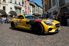 Gumball Mercedes AMG GT chez Mille Miglia 2015 Photo stock