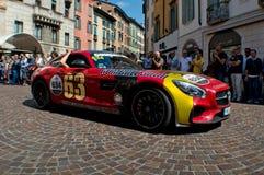Gumball Mercedez AMG GT przy Mille Miglia 2015 Obraz Stock