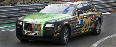 Gumball. A Gumball Rally Rolls Royce in Monaco 2013 Royalty Free Stock Photos
