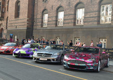 Gumball 3000 starts in copenhagen denmark Royalty Free Stock Images