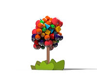 Gumball tree Stock Image