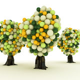 Gumball trees Royalty Free Stock Images
