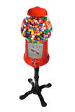 Gumball Vending Machine. Filled with colorful gumballs isolated on white royalty free stock image