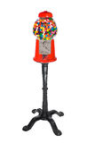 Gumball Vending Machine. Filled with colorful gumballs isolated on white stock photography