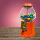 Gumball Vending Machine. With background royalty free stock image