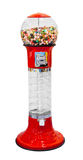 Gumball vending machine. With colorful gumballs isolated on white background stock photo