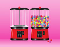 Gumball vending machine. A vector gumball vending machine having multicolored gumballs Royalty Free Stock Photo