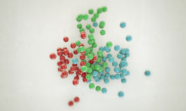 Gumballs. Sweet gumballs on white background Royalty Free Stock Images