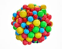 Gumballs. Grouped into an invisible spherical shape Royalty Free Stock Images
