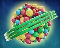 Gumballs. Grouped into an invisible spherical shape Royalty Free Stock Image
