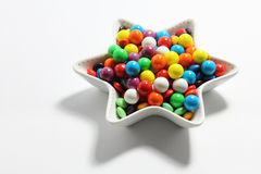 Gumballs. Plate of Gumballs on Seamless Background Stock Photo
