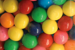 Gumballs. Closeup of Multi-Colored Gum Balls Royalty Free Stock Photography