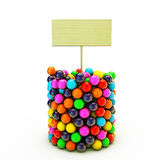 Gumballs. On white background Royalty Free Stock Images