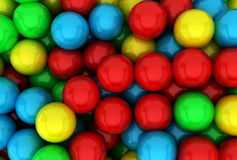 Gumballs. 3d background for design Royalty Free Stock Photography