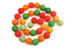 Gumballs. Colorful gumballs stock image