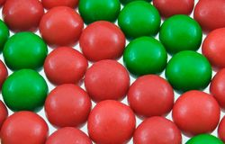 Gumballs. Red and green gumball background Stock Images