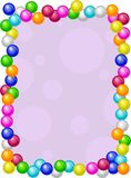 Gumballs Border. Colourful gumballs candy frame design Royalty Free Stock Photography