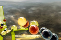 Gumballs. 3d illustration of sweet gumballs Royalty Free Stock Photos