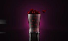 Gumballs in een glas Stock Foto's