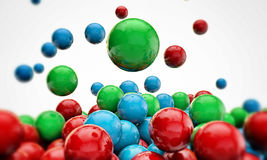 Gumballs falling. On white background Royalty Free Stock Photos