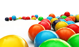 Gumballs. Group of gumballs on white background Stock Photos