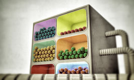 Gumballs machine. In old grunge foto Stock Photography