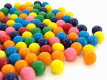 Gumballs over White Royalty Free Stock Photo