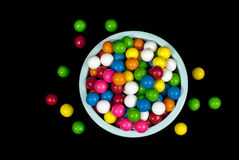 Plastic bowl full of gumballs Stock Photos