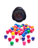 Gumballs. Taking a picture of gumballs royalty free stock photos