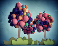 Gumballs trees Stock Photography