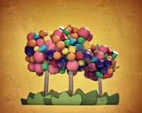 Gumballs trees Royalty Free Stock Images