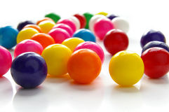 Gumballs on white Royalty Free Stock Photography